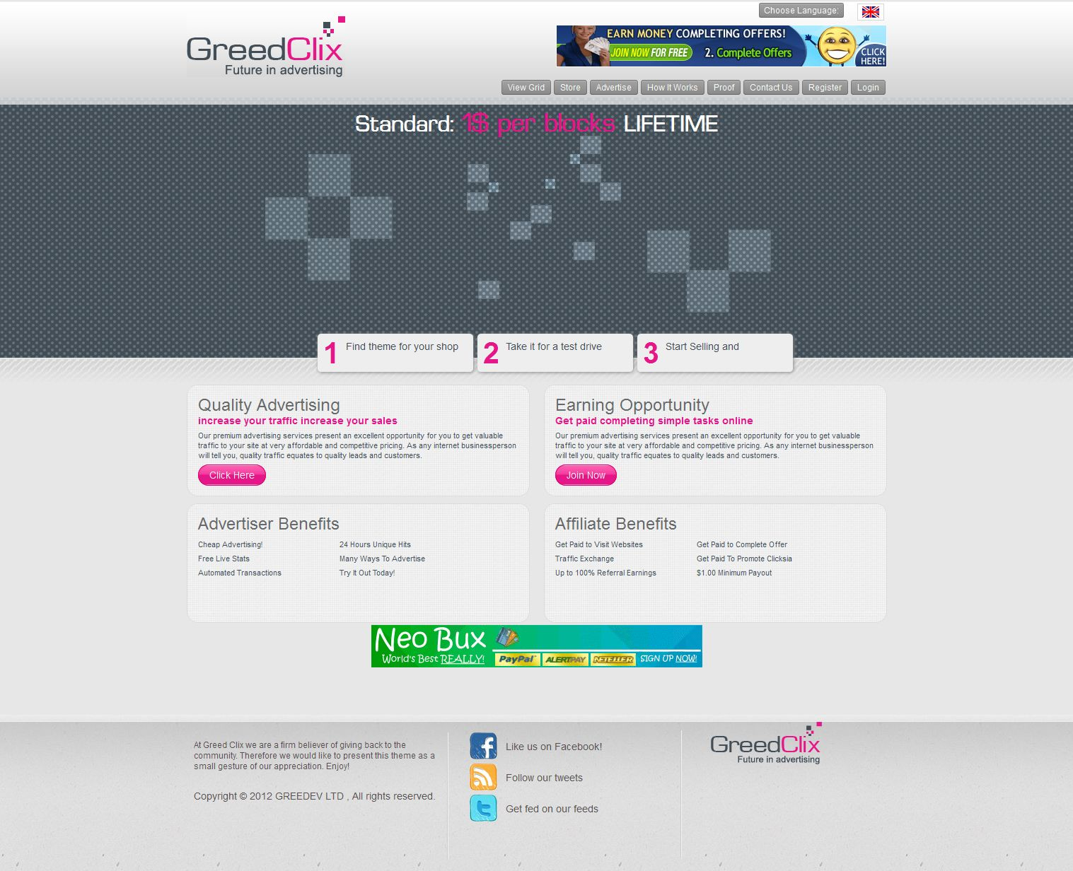 GreedClix : Future in advertising
